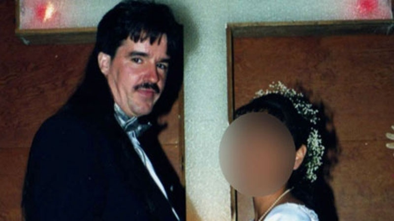Convicted sexual predator Martin Tremblay is shown in this wedding photo from 2000. (CTV)