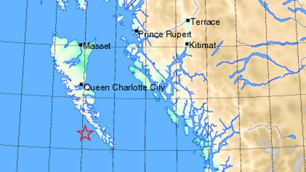 6 2 Magnitude Quake Hits Haida Gwaii Ctv Vancouver News