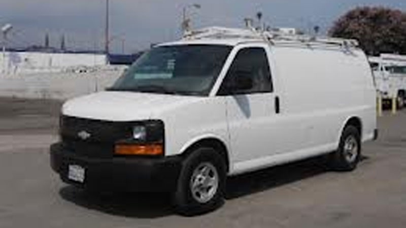 Mounties say a white Chevrolet Express van similar to the one pictured was near the site of a fatal Oct. 29, 2012 crash in Langley. (Handout)
