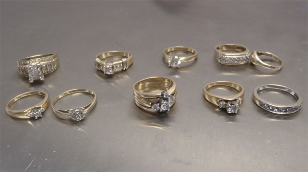 Stolen engagement rings