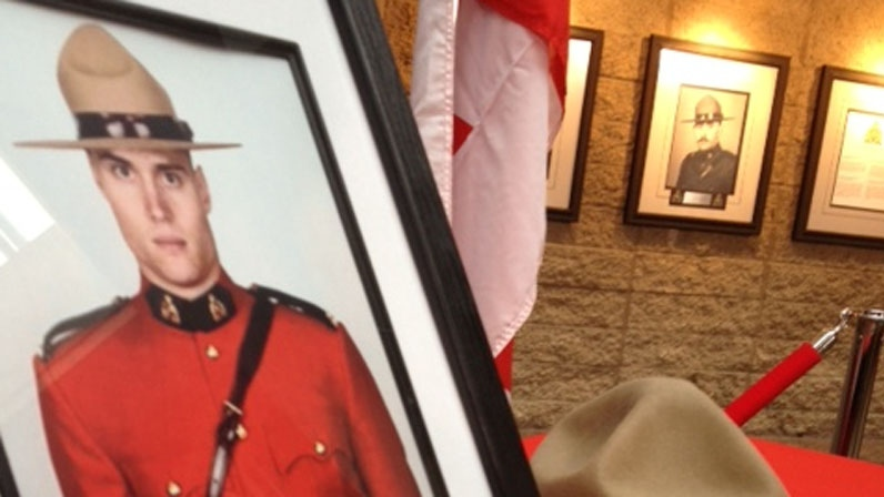 RCMP officer Adrian Oliver was killed in a crash with a semi truck on Nov. 12, 2012. (CTV)