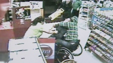 Larry Skopnik is being hailed as a hero after he wrestled a would-be thief to the ground for threatening a Vancouver convenience store clerk. Nov. 8, 2010. (CTV)