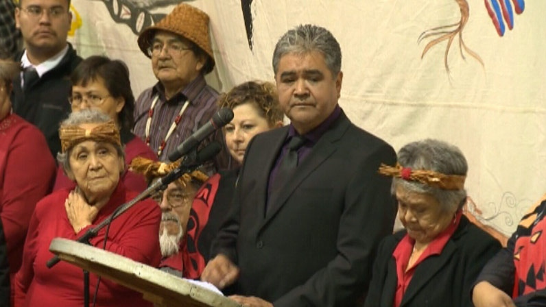 B.C. government expresses regret over the hanging of two Hesquiaht people more than 140 years ago. November 17, 2012. (CTV)
