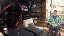 Larry Skopnik talks to CTV News Channel about the thwarted robbery that made him a hero. Nov. 9, 2010. (CTV)