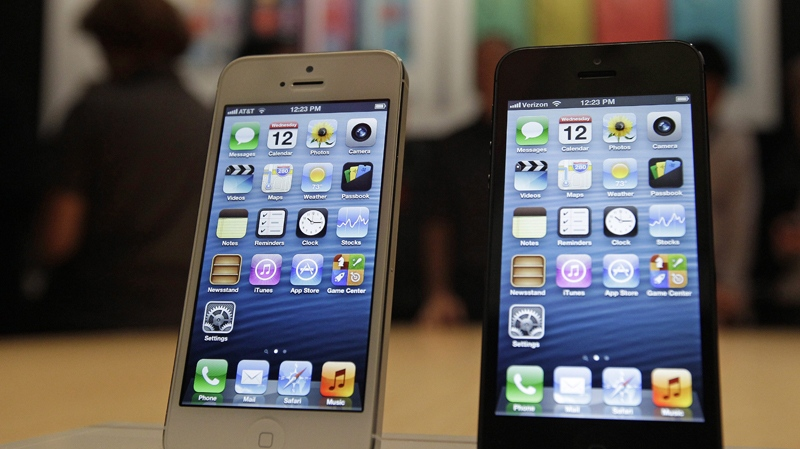 In this file photo, a new Apple iPhone 5 is on display following the introduction of new products in San Francisco.