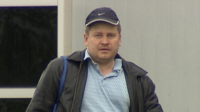 Aleksandr Plehanov is seen leaving the North Fraser Pretrial Centre in this June 11, 2010 file photo. (CTV)
