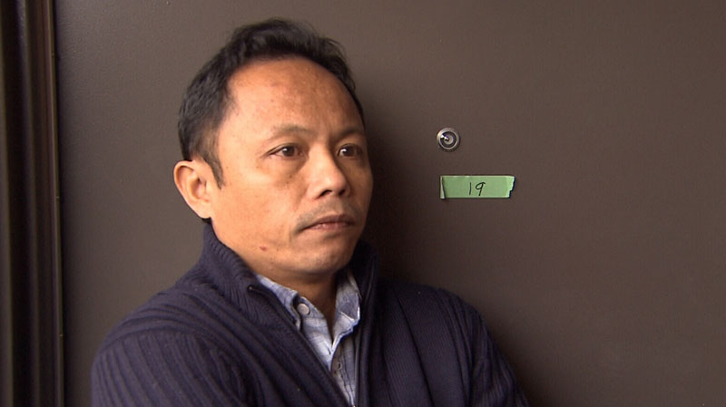 Widowed father Nilo Tumanda speaks to CTV News the day after his wife was killed in a hit-and-run crash. Dec. 3, 2012.