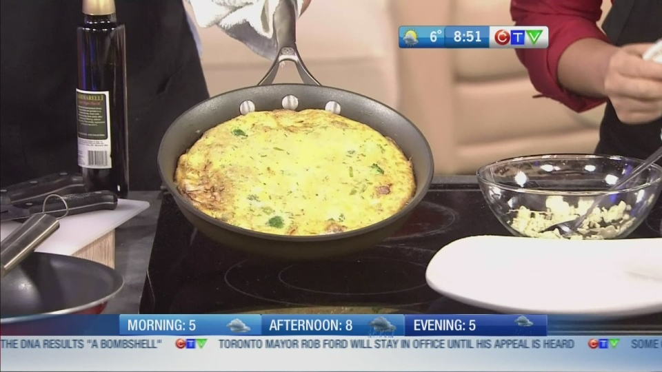 CTV BC Morning Live: Host Cooking Series: Aamer shows us how to make his Yummy in My Tummy Frittata