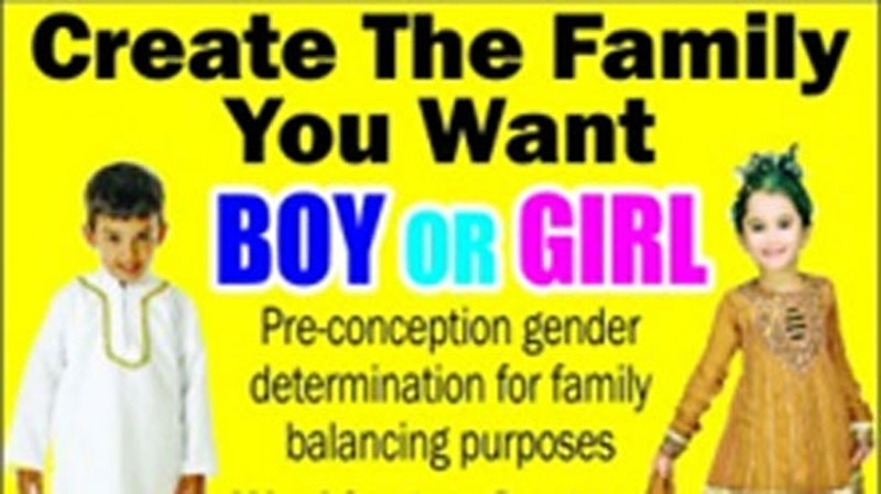 An advertisement for gender selective services as it appeared on the Indo-Canadian Voice newspaper website. April 17, 2012. (Web)