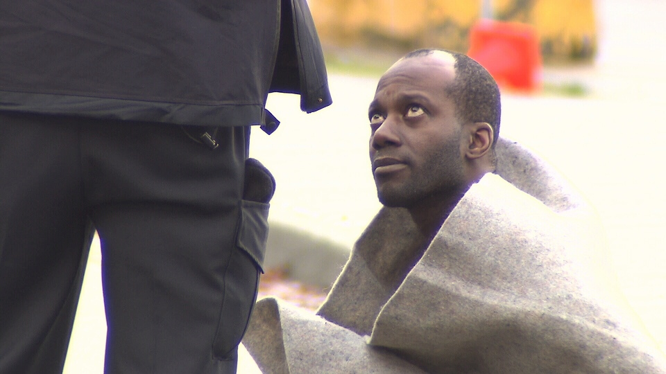 A man was arrested at the scene after a string of violent assaults in Vancouver on Dec. 7, 2012. (CTV)