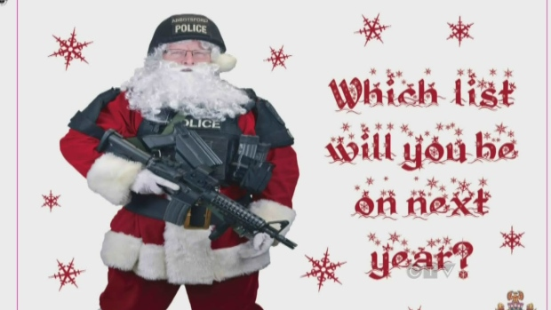 CTV BC: Police mail Christmas cards to criminals