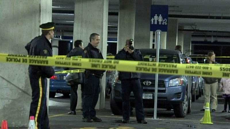 Police investigate after reports of a shooting at the Richmond Ikea on Tuesday. December 12, 2012. (CTV)