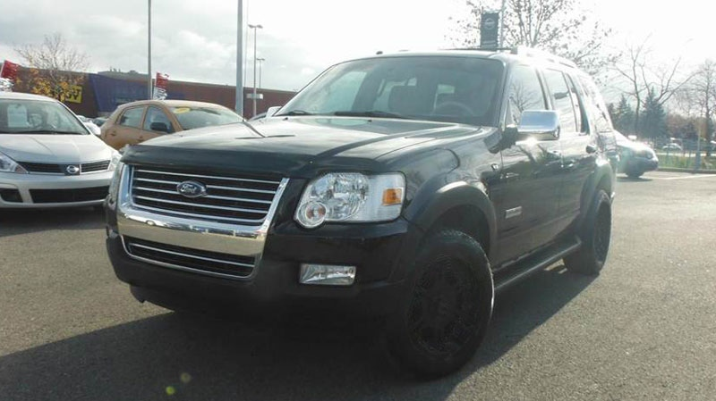 The suspect was seen driving a black 2006 to 2010 Ford Explorer with black wheels, similar to the one pictured.