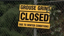 Grouse grind warning