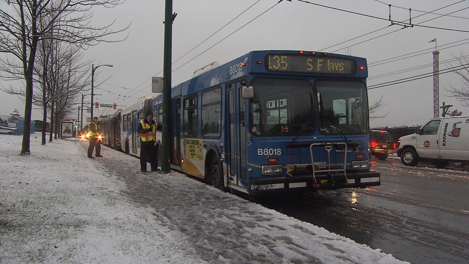 Bus service has been affected by freezing weather, TransLink says. (CTV)