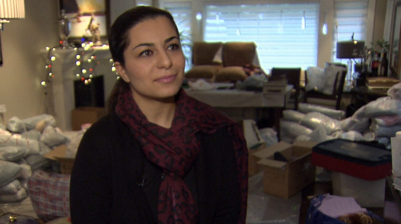 Amel Jahanmiri put together and distributed various care packages to people in need on Christmas day. December 25, 2012. (CTV)