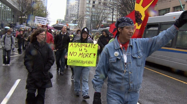 Supporters of Idle No More in Vancouver
