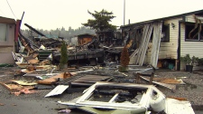 Surrey trailer park fire
