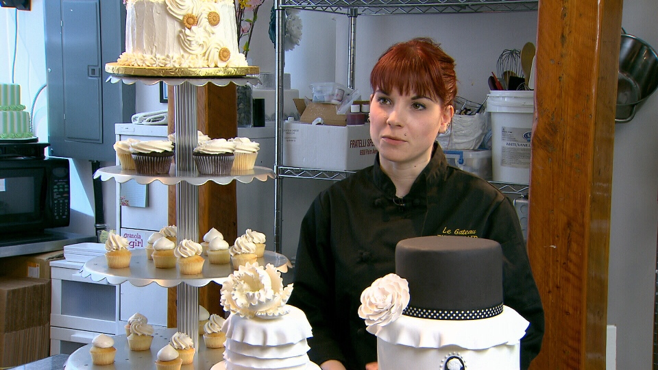 Tanya Muller of North Vancouver's Le Gateau bake shop says cupcakes are a great way to cut your wedding cake costs in half.