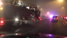 Fog and ice car accidents on the Port mann bridge