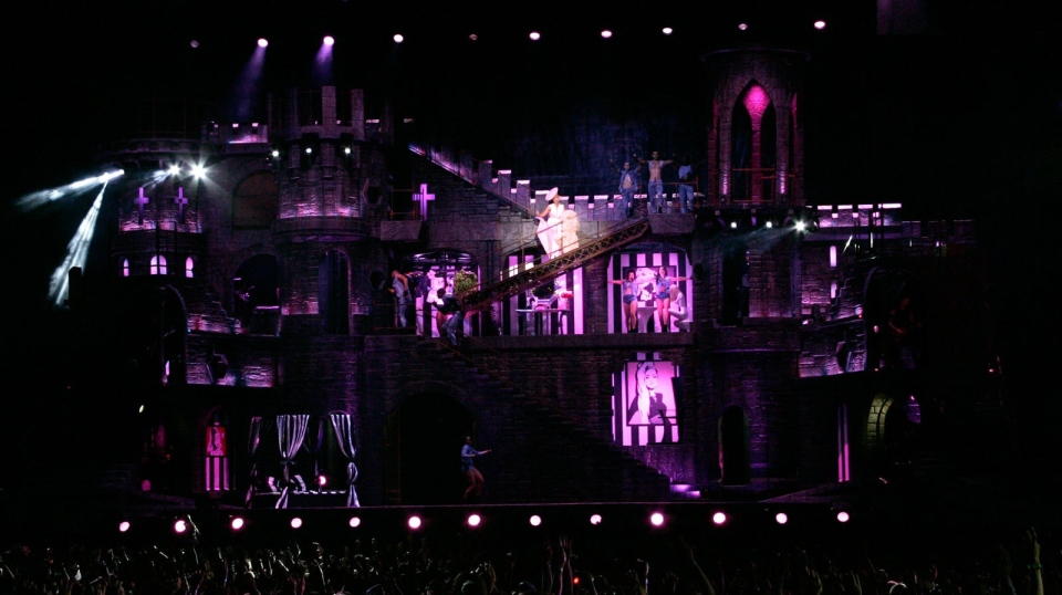 The stage set for Lady Gaga's January 11, 2013 performance at Rogers Arena. (The Picture Group)