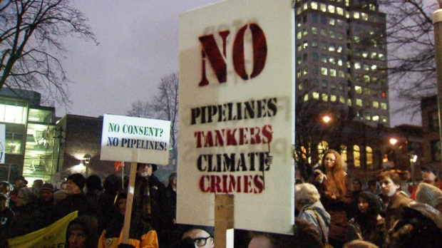 Pipeline protest