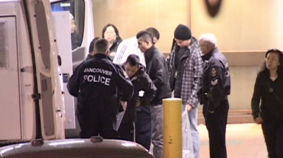 One man is dead after a brutal beating, in Vancouver's first recorded homicide on Jan. 24, 2013. (CTV)