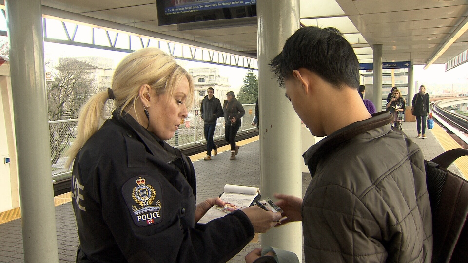 A crackdown on fare evasion has resulted in a 32 per cent drop in fines, according to TransLink. Feb. 2, 2013. (CTV)