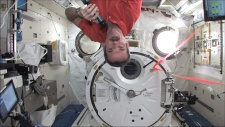 Shatner Hadfield space talk ISS