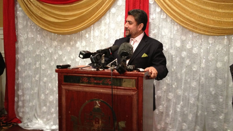 Sukh Dhaliwal speaks at a press conference on Feb. 8, 2013 where he announced he will step down as a candidate for the BC Liberal Party. (CTV)
