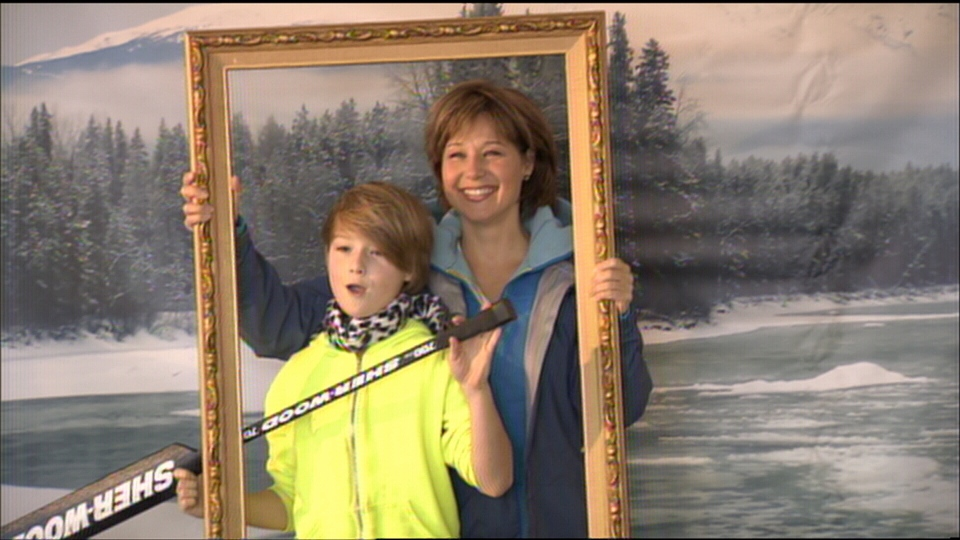 B.C. Premier Christy Clark celebrates Family Day with her son on Feb. 11, 2013.