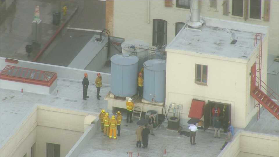 A body was recovered from the roof of the Cecil Hotel in Los Angeles on Feb. 19, 2013.  Missing Vancouverite Elisa Lam was last seen by hotel staff two weeks earlier.