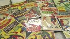 Gareth Gaudin is selling roughly 2,500 Spider-Man comics to help raise his expanding family. Feb. 19, 2011. (CTV)