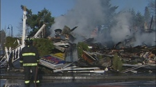 Vancouver Island's Lorne Hotel was destroyed in an early morning fire on Feb. 28, 2011. (CTV)