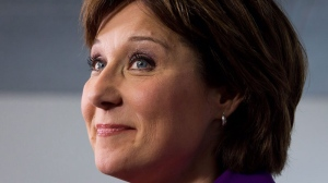 British Columbia Premier Christy Clark pauses during a news conference at her office in Vancouver, B.C., on Wednesday May 15, 2013. (THE CANADIAN PRESS/Darryl Dyck)