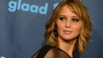 Jennifer Lawrence arrives at the 24th Annual GLAAD Media Awards at the JW Marriott in Los Angeles on Saturday, April 20, 2013. (Jordan Strauss / Invision)