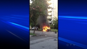 A Toyota exploded in Vancouver's West End