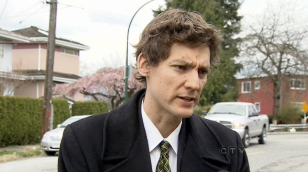 David Eby, executive director of the B.C. Civil Liberties Association, talks with CTV in Vancouver on Saturday, April 9, 2011, about a stun gun incident involving an 11-year-old boy and the RCMP in Prince George, B.C.
