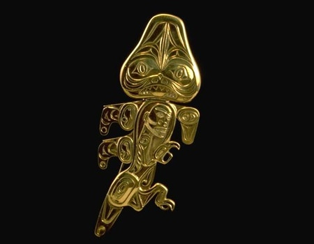 One of the gold pieces stolen from the University of B.C.'s Museum of Anthropology early Saturday.