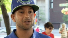 Vancouver Canucks fan Spencer Sangara said he left Game 3 early after experiencing two hours of taunting and provoking by Boston Bruins fans. June 7, 2011. (CTV)