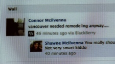 Connor Mcilvenna was fired from his job after making statements in support of the Vancouver Stanley Cup riot on Facebook. June 17, 2011. (CTV)