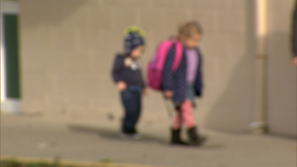 Coghan Fundamental Elementary School in Langley has implemented a no-touching policy for kindergarten students at recess. Nov. 4, 2013. (CTV)