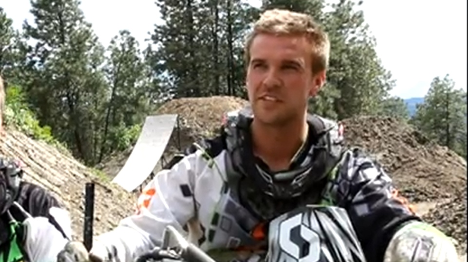 Kelowna motocross rider Bruce Cook is recovering in hospital following a horrific crash during a world-record double flip attempt at a show in Hamilton, Ontario. Jan. 4, 2014. (YouTube)