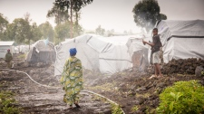 drc IDP camp congo