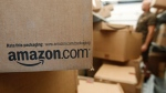 An Amazon.com package awaits delivery from UPS in Palo Alto, Calif., on Oct. 18, 2010. (AP / Paul Sakuma)