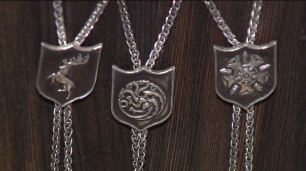 Game of thrones fan jewelry made in vancouver ctv for Vancouver island jewelry designers