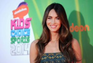 Megan Fox arrives at the Kids' Choice Sports Awards at UCLA's Pauley Pavilion in Los Angeles on Thursday, July 17, 2014. (Chris Pizzello / Invision)
