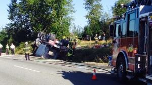 Fatal dump truck crash closes part of Hwy. 1