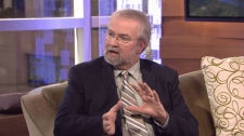 Reid Johnson, president of the Health Sciences Association of B.C., answers viewer questions on CTV News. March 6, 2012. (CTV)