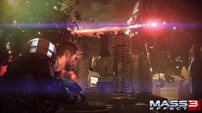 "In this video game image released by Electronic Arts, a scene is shown from ""Mass Effect 3."" (AP Photo/Electronic Arts)"